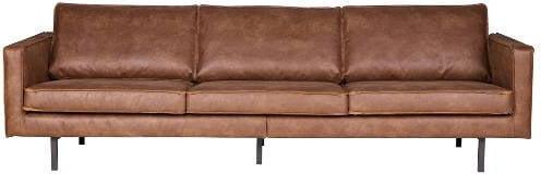 Sofa 3-osobowa czarna Rodeo