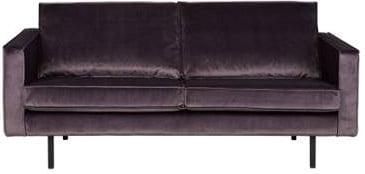 Sofa 2.5-osobowa aksamitna jasnoszara Rodeo