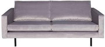 Sofa 2.5-osobowa aksamitna szara Rodeo