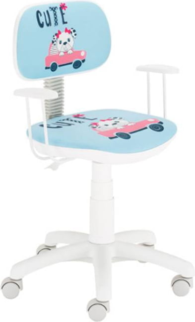 Krzesło obrotowe Bambino Black Red White TwojeMeble.pl meble z kolekcji Krzesła Obrotowe BRW