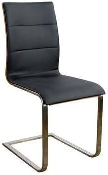 Krzesło Siena stal szczotkowana (dąb)