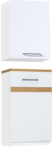 Biały połysk / Dąb Craft złoty