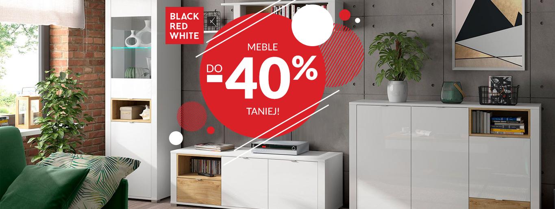 Black Red White - Wszystkie meble do 40% taniej!
