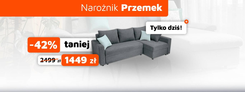 Hit dnia! Narożnik Przemek - tylko dziś do 42% taniej!