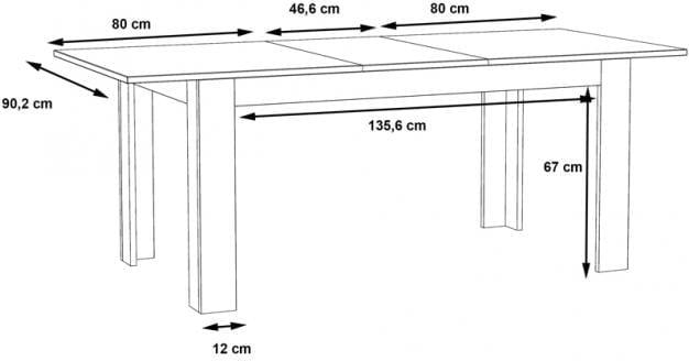 Stół rozkładany Suprie