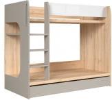 Łóżko piętrowe Namek Biały / Jasny dąb