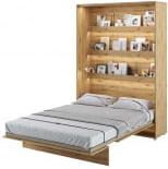 Półkotapczan Pionowy 140 Bed Concept Jasny dąb