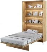 Półkotapczan Pionowy 120 Bed Concept Jasny dąb