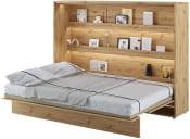 Półkotapczan Poziomy 140 Bed Concept Jasny dąb