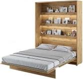 Półkotapczan Pionowy 160 Bed Concept Jasny dąb