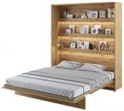 Półkotapczan Pionowy 180 Bed Concept Jasny dąb