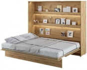 Półkotapczan Poziomy 160 Bed Concept Jasny dąb