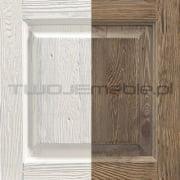 Stół Provance Biały / Ciemny dąb