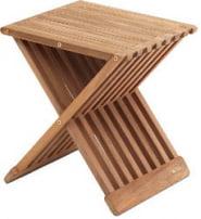 Taboret drewno teak Fionia