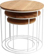 Zestaw 3 stolików Trios Solid Wood
