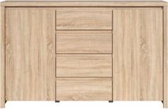 Praktyczna komoda z drzwiami i szufladami do salonu Kaspian
