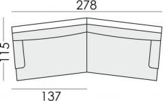 Sofa 3.5-osobowa dwuczęściowa Howard