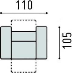 Fotel z funkcją relaksu manualnego Belluno