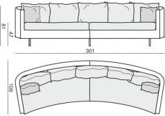 Sofa 4-osobowa Julia