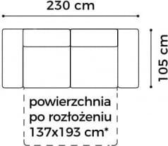Sofa 3-osobowa z funkcją spania Plaza
