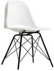 Krzesło białe Match Metal Black