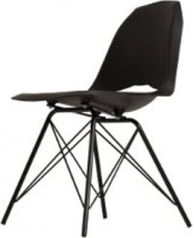Krzesło czarne Match Metal Black