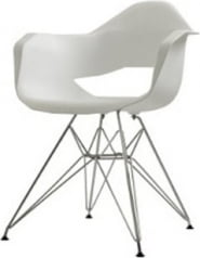 Krzesło białe Match Arms Metal