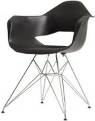 Krzesło czarne Match Arms Metal