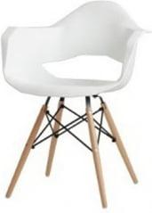 Krzesło białe Match Arms Wood