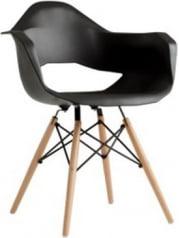 Krzesło czarne Match Arms Wood
