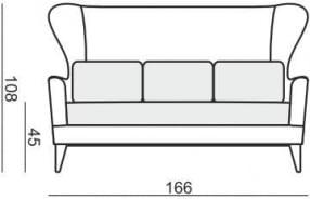 Sofa 2.5-osobowa Greta