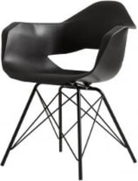 Krzesło czarne Match Arms Metal Black
