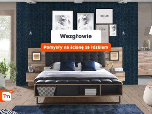 Wezgłowie - pomysły na ścianę za łóżkiem