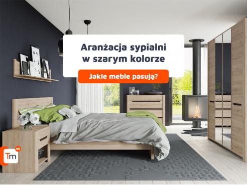 Aranżacja sypialni w kolorze szarym – jakie meble pasują?