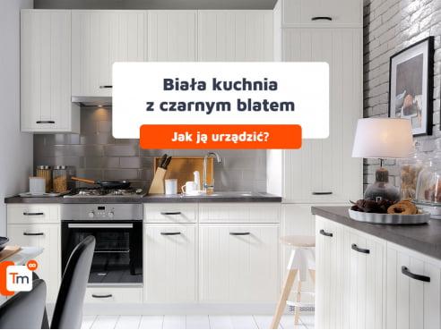 Biała kuchnia z czarnym blatem - Jak urządzić?
