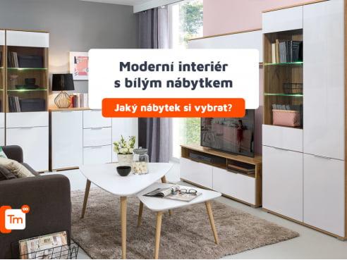 Moderní interiér s bílým nábytkem